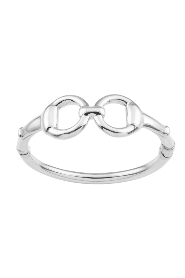 SS27 Snaffle Bit Hinged Bangle