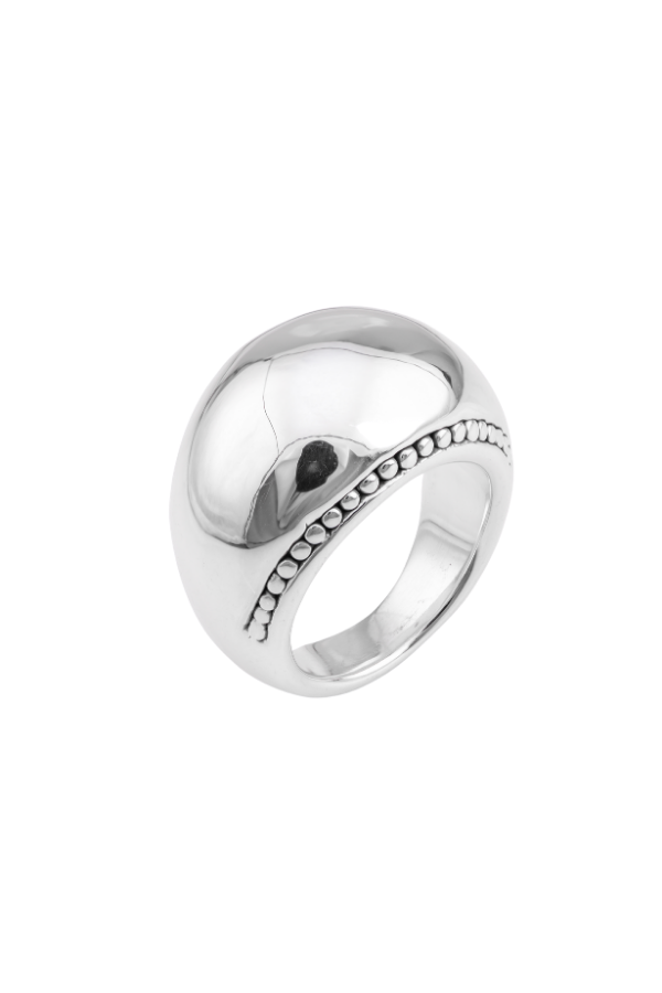 SS13 Silver Ring (Dome w/ Decorative Edging)