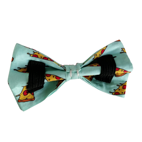 Penny Lou UK | Pizza Print Bowtie for Dog Collar