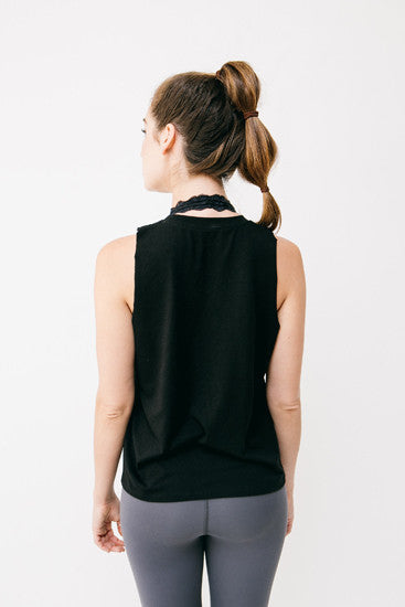 Basics Black Bamboo Muscle Tee