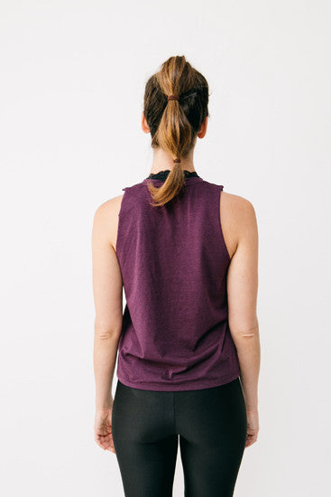 Basics Deep Purple Bamboo Muscle Tee
