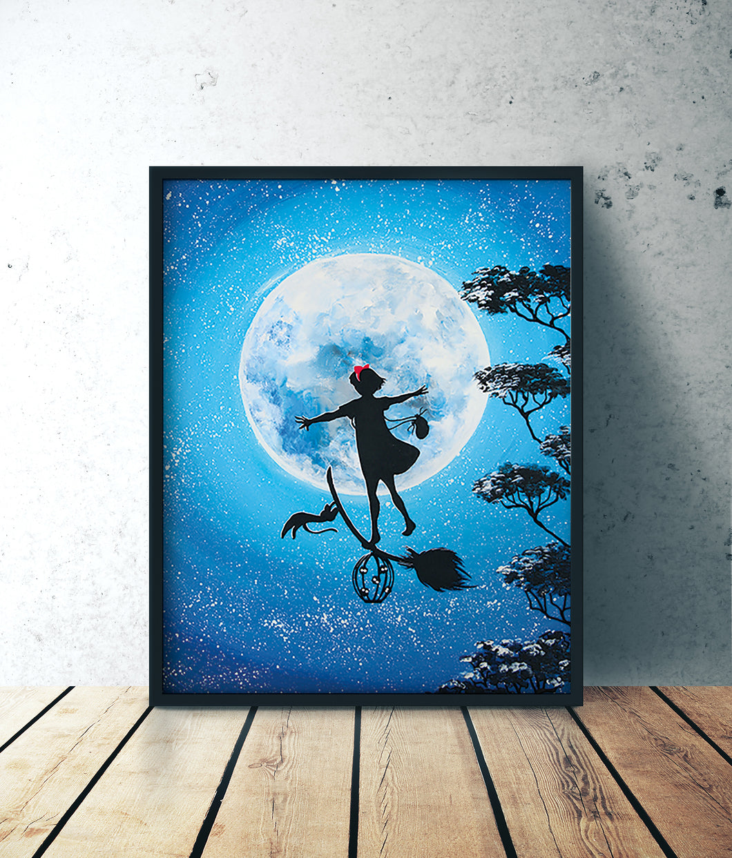Kiki the witch ghibli acrylic forex by Kudnalla