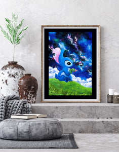 Stitch Disney Acrylique Poster by Kudnalla
