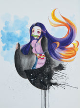 Charger l'image dans la galerie, Demon Slayer Nezuko watercolor by Kudnalla