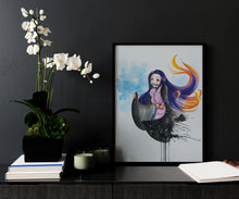Charger l'image dans la galerie, Nezuko Demon Slayer watercolor forex by Kudnalla