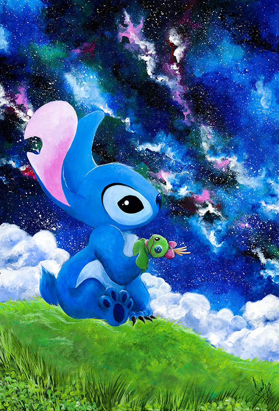 Disney Stitch Acrylic poster by Kudnalla