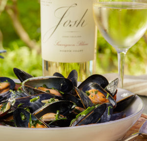 Steamed Mussels with Josh Sauvignon Blanc