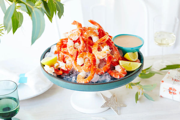 Fresh Prawns with a Coctail Dipping