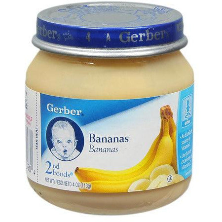 GERBER BANANA PUREE 113GR (4779991662729)