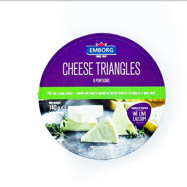 EMBORG CHEESE TRIANGLES 140G (4779989827721)