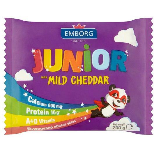 EMBORG JUNIOR CHEDD MILD SLICE 200G (4779990515849)