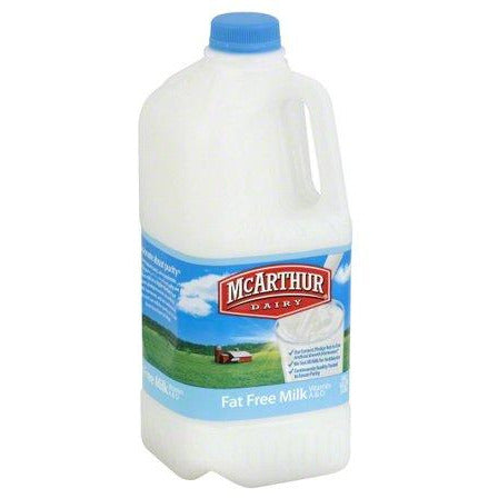 Mc Arthur Milk FF skimmed Milk 0.5 Gal (4769208467593)