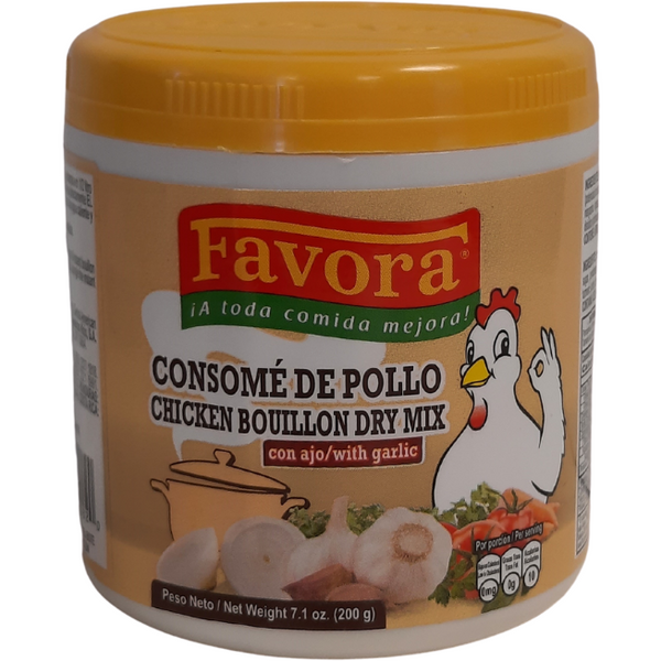 Favora Chicken Bouillon Dry Mix with Garlic 200 gr