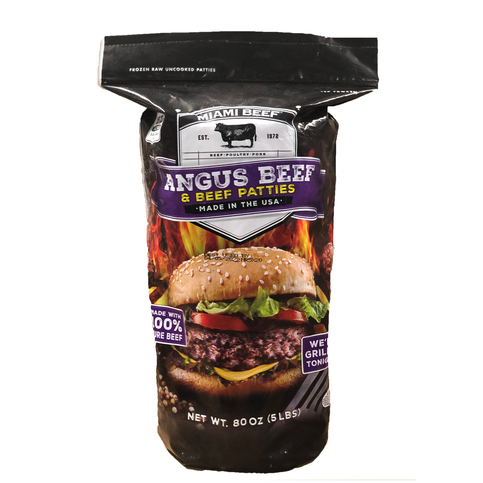 Miami Beef Angus Beef Patties 5 lb