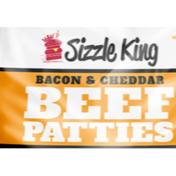 Sizzle King Bacon Cheddar Beef Patties Bag 4 lb