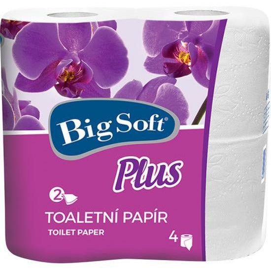 Big Soft Toilet Paper 2 ply - 4 rolls
