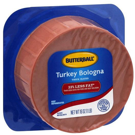 Butterball Bologna 33% Less Fat 16 oz