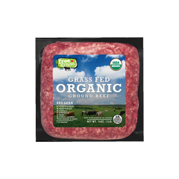 Free Graze Organic Grass Fed Ground Beef 1 lb