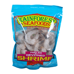 Rainforest seafoods Shrimps 26-30 Easy Peel XL 24oz