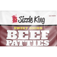 Sizzle King Sweet Onion Beef Patties Bag 4 lb