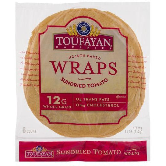 Toufayan Wraps Sundried Tomato 10 oz