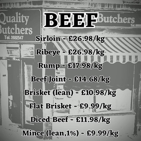 Beef from Neil Smith Quality Butchers