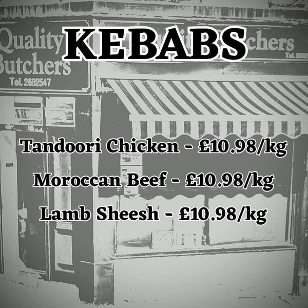Kebabs from Neil Smith Quality Butchers