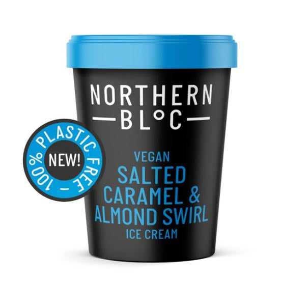 Salted Caramel & Almond Swirl Ice Cream - Northern Bloc