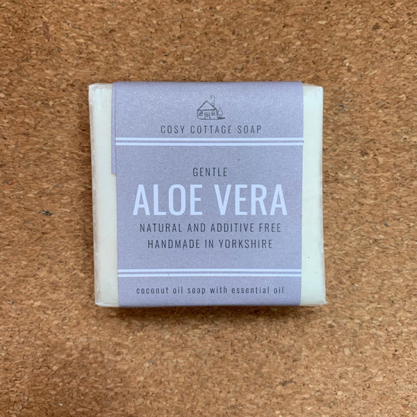Palm Oil Free Solid Soap - 55g - Aloe Vera