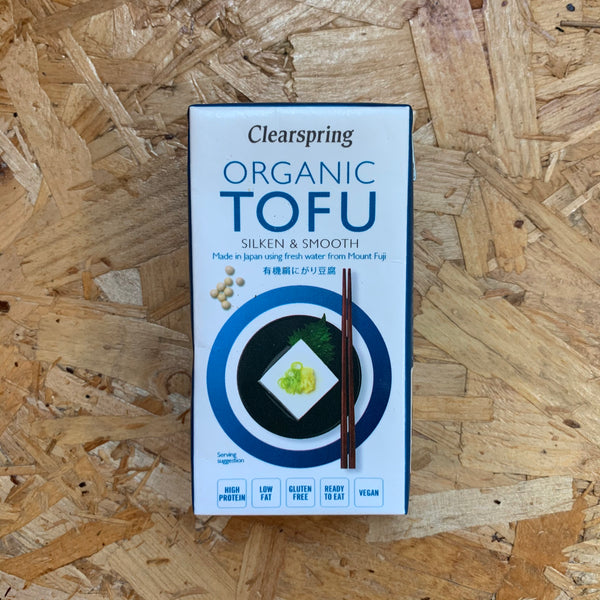 Organic Japanese Tofu - Silken & Smooth - 300g - Clearspring