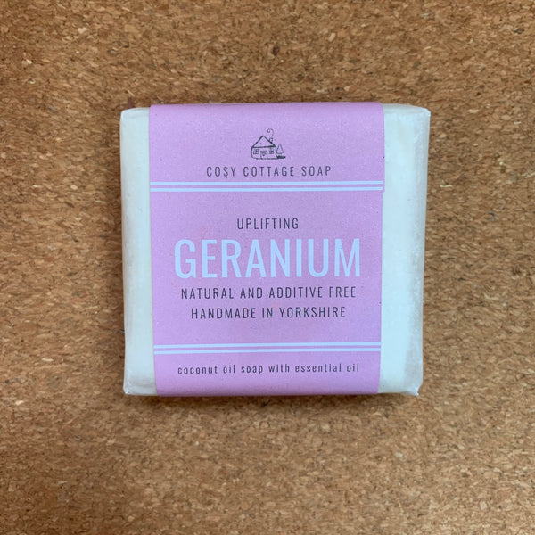 Palm Oil Free Solid Soap - 55g - Geranium