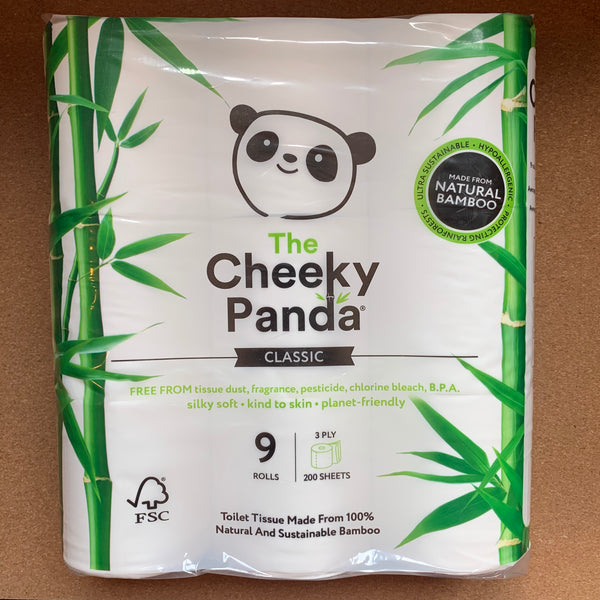 100% Bamboo 9 Roll Toilet Tissue Pack - The Cheeky Panda