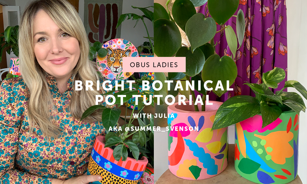 DIY Bright Botanicals Pot with Julia aka @summer_svenson