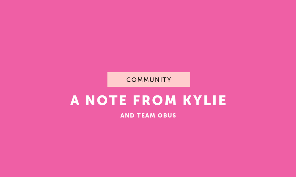 A Note from Kylie - June 2020