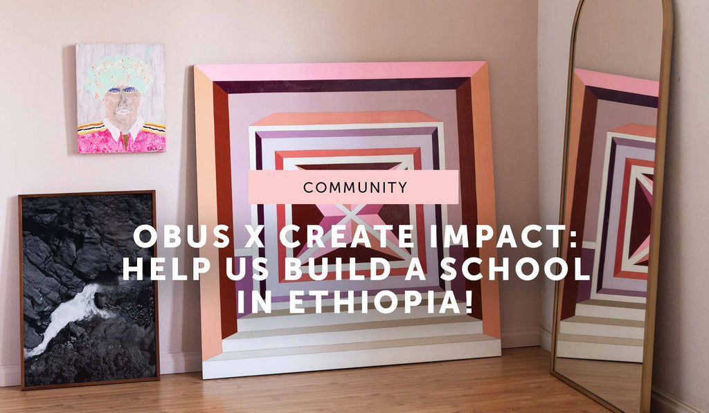 COMMUNITY: The Obus x Create Impact art auction!
