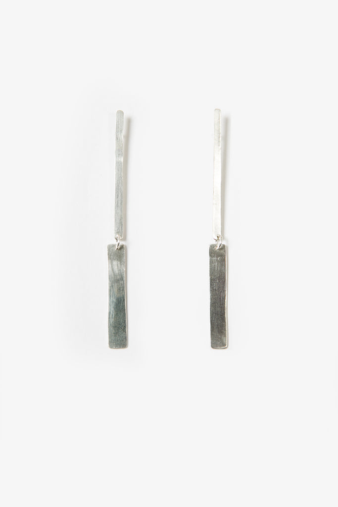 Silver drop earrings by Elise Sheehan
