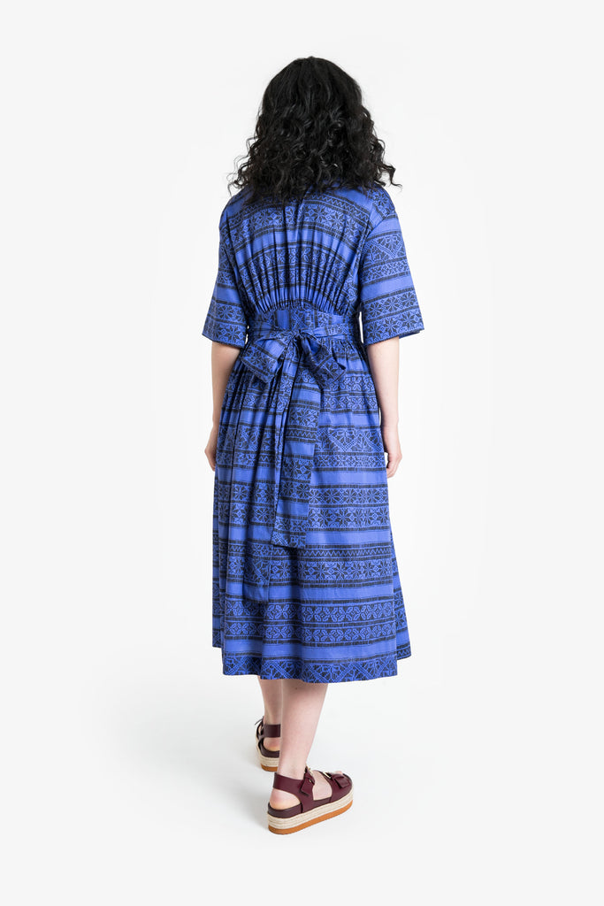 Blue Moon Wrap Dress