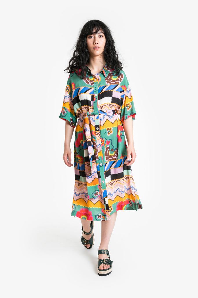 Good Fortune Shirt Dress