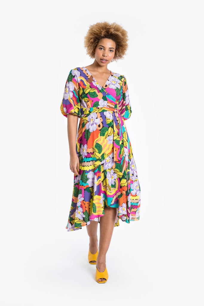 Grandiflora Wrap Dress