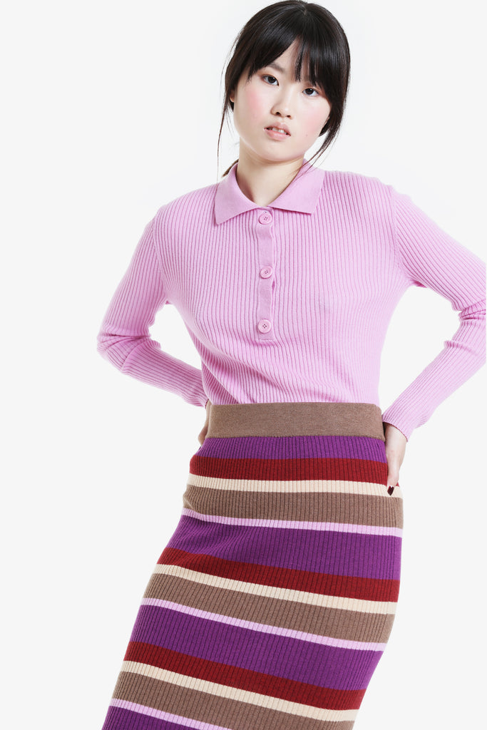 Traveller Knit Rib Skirt A/W20