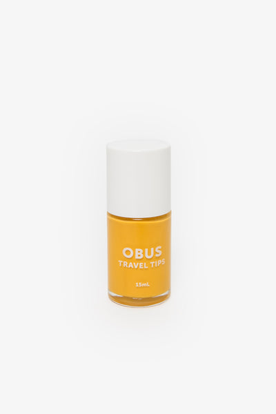 Yellow nail polish by Obus