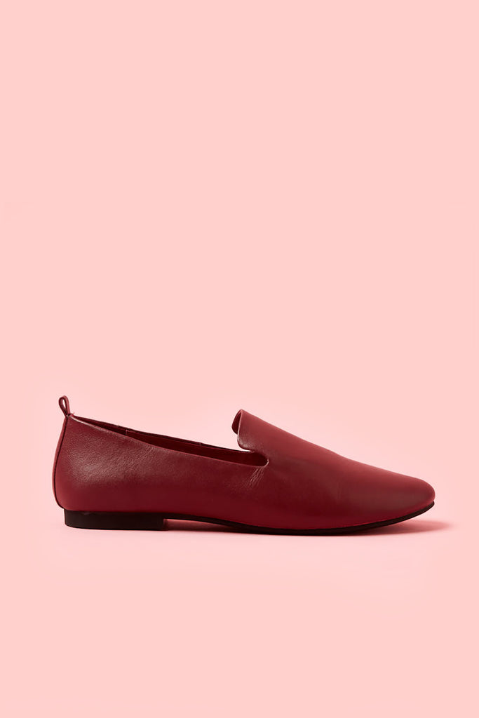 Obus x Radical Yes collaboration dharma slip-on shoe in red