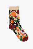 OBUS women's cotton sock, multicoloured wildflower floral design from our NAMAQUA print