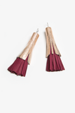 leather tassel earring by Spiritfire