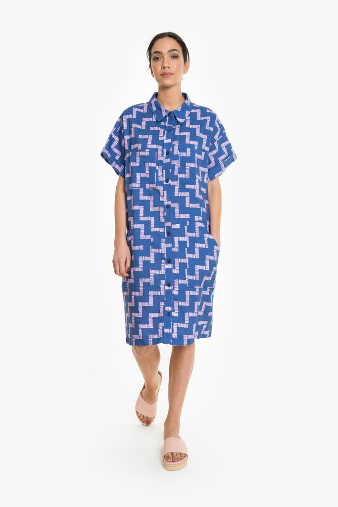 Stay The Course Shirt Dress