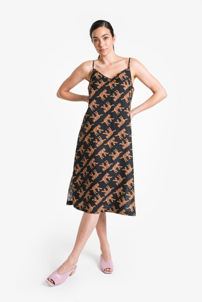 Wild Cat Slip Dress