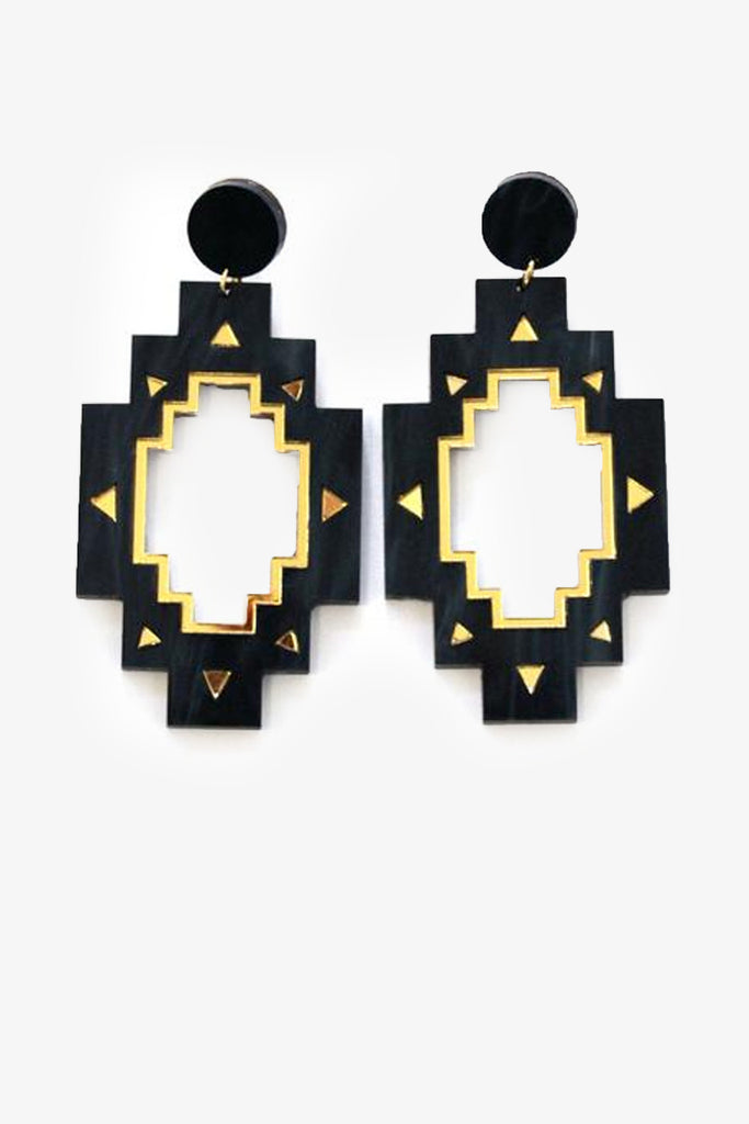 African inspired star earrings by Ovazania