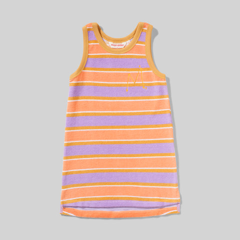 THE MARKET DRESS TERRY STRIPE