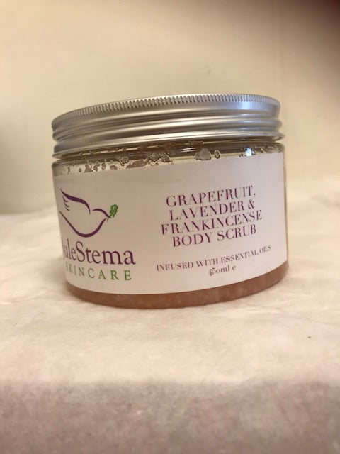 Grapefruit, Lavender & Frankincense Sea Salt Body Scrub 450ml