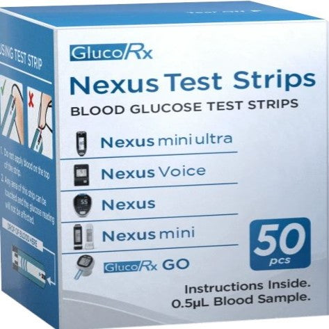GlucoRx Nexus Glucose Test Strips | Diabetic Supply